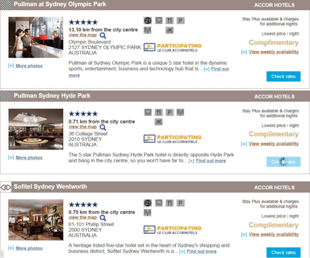 Accor Plus Stay Plus Room Availability
