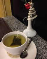 Green tea and green trees. Christmas spirit is alive in Maadi.