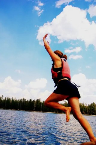 jumping from boat
