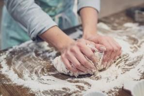 Kneading dough can really help you de-stress.