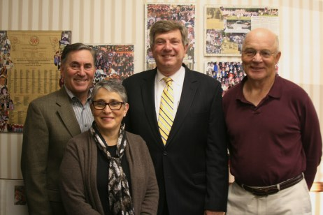 The Westfield Foundation Executive Board for 2013-14, (from l to r) :Howard Cohen, secretary; Alice Fertig, treasurer; Rich Coltrera, vice-president; and Bill Foley, president.