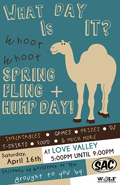 Hump Day Spring Fling Poster