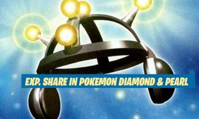 Exp. Share in Pokemon Diamond & Pearl