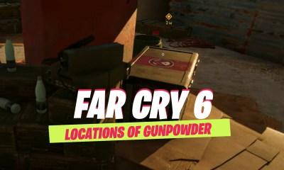 all gunpowder locations in far cry 6