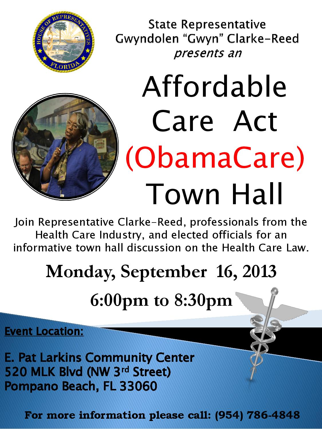 Affordable Care Act ObamaCare Town Hall  The Westside