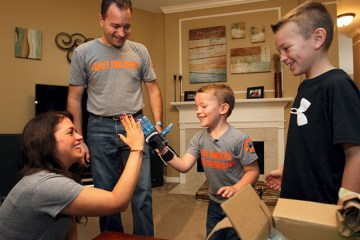 Five year old Keith Harris from Texas gets a 3D printed prosthetic hand