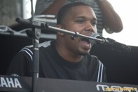 Rapper Charles Hamilton peforms while playing the piano at the 11th Annual Brooklyn Hip-Hop Festival held at Williamsburg Park on July 11, 2015 in Brooklyn, NY