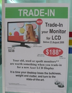 Concepts Monitor Trade-in Promo Advertisement