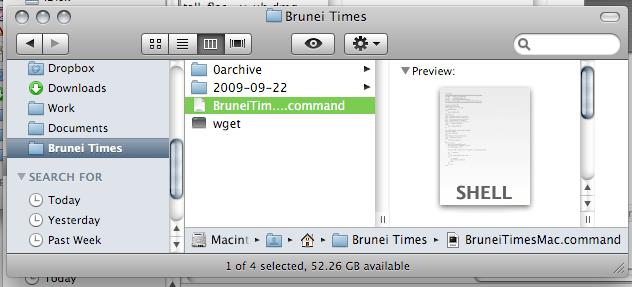 Mac: wget in same directory as download script