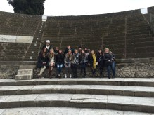 A group shot in Pompeii