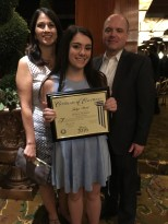 Jaclyn with her parents