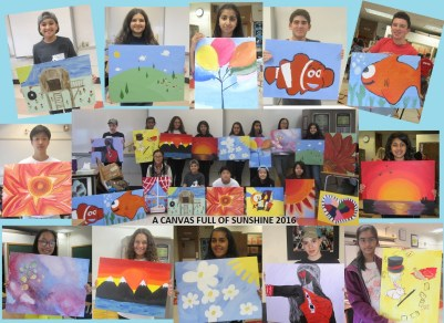 Ms. Calvagno shared this collage of canvases!