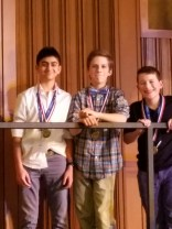 Neil, Jack and Joseph earned 2nd Place!