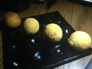 There's nothing simple about these innocent looking croquettes! Leeks, potato, and truffle. That's all you need to know.