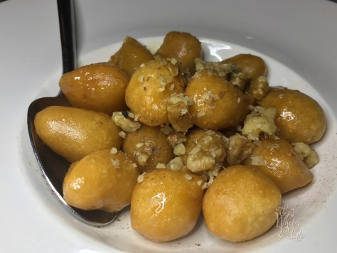 (Not on the Miami Spice menu, but very good) Loukoumades 18 Fried traditional Greek beignets, served with thyme honey From the Island of Kythira, walnuts and cinnamon