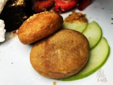 Meet hay: walnut cumin cookie, apple karanji, cardamon shortbread, kaju katli