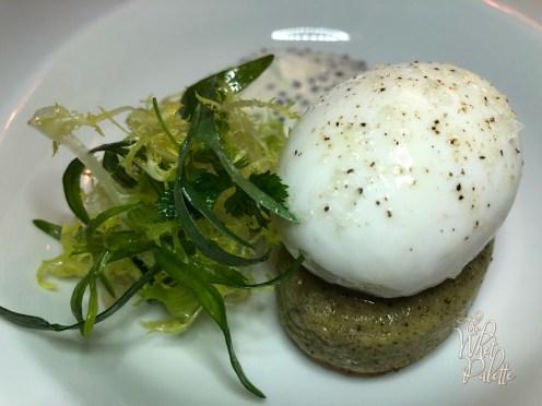 Warm Soft-Boiled Egg with Regiis Ova Ossetra Caviar, Buckwheat Blini, and Crème Fraîche