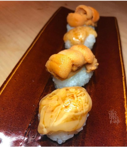 KONOKO salt pickled sea cucumber innards and TOKUJOU UNI sea urchin roe