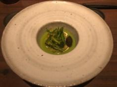 HOUSEMADE TOFU:asparagus, udo, osetra caviar, pine nut