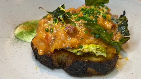 BLT Florida Clam Toast: Stubborn Seed Post Quarantine