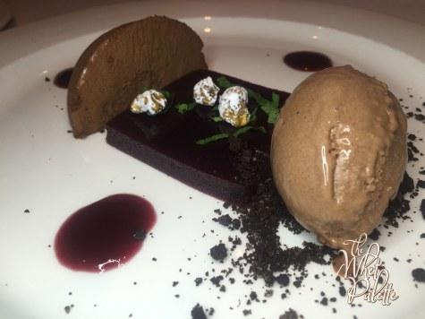 Dark Cherry Pate and Valrhona Chocolate Cremeux