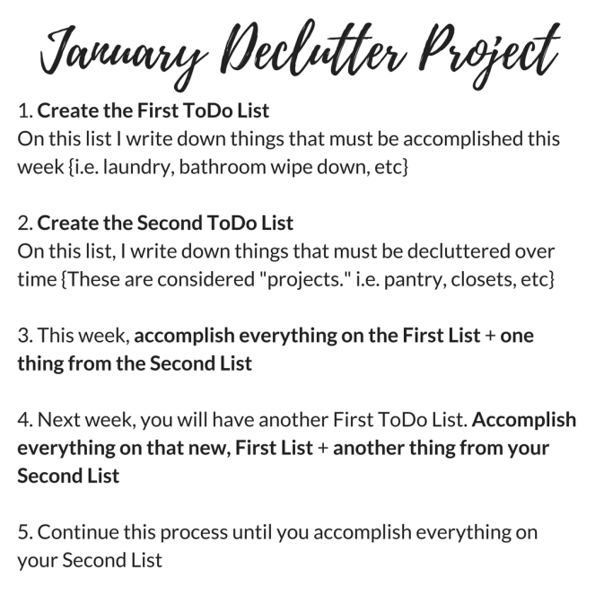January Declutter Project