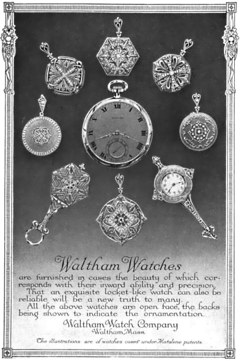 1913 magazine advertisement for Waltham Watch ...