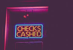 bank check photo