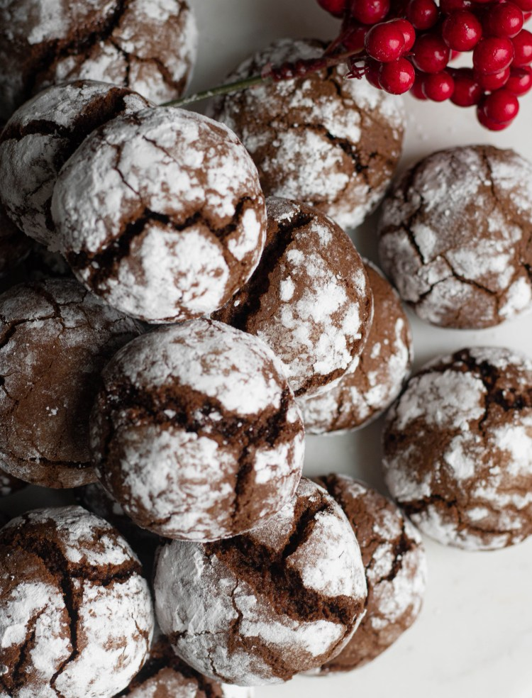 Chocolate Crinkle Cookies