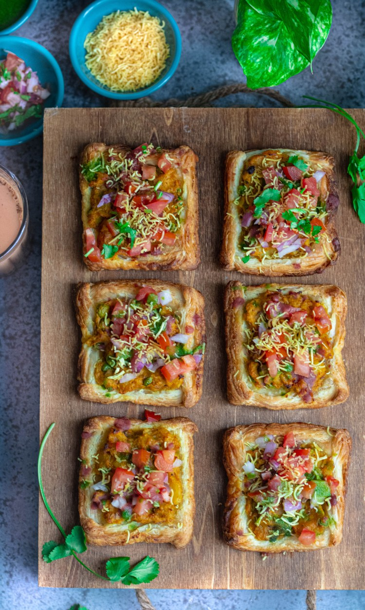 Puff Pastry Samosa Chaat