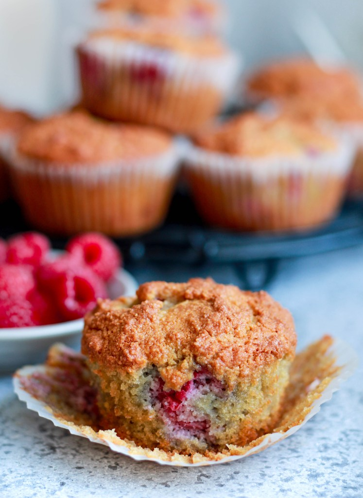 Almond - Raspberry Breakfast Muffins