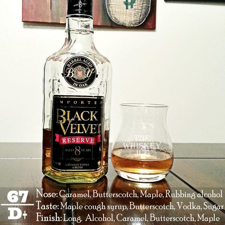 black velvet reserve review the whiskey jug