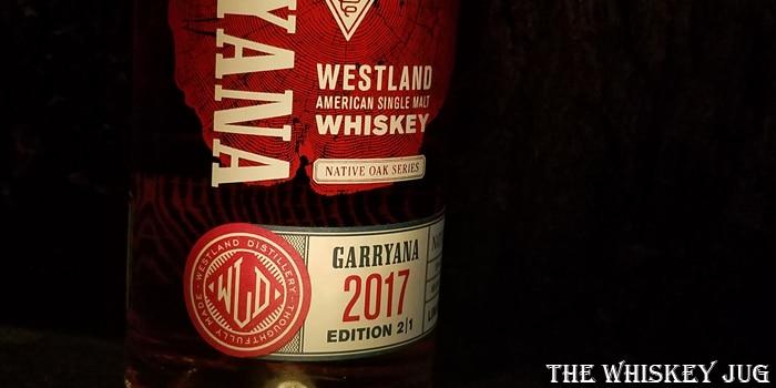 Westland Garryana 2017 Label
