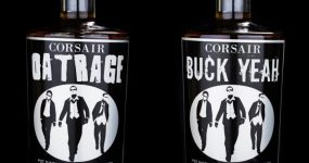 Corsair's buckwheat whiskey, at right (image via Corsair)