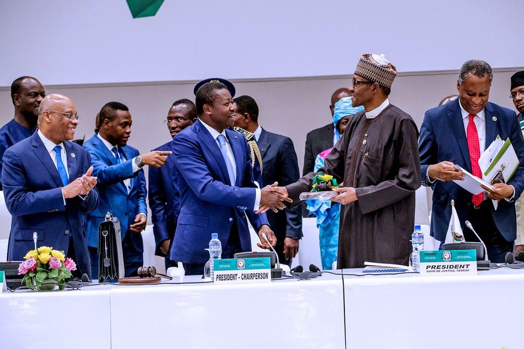 Image result for Buhari elected ECOWAS chairman