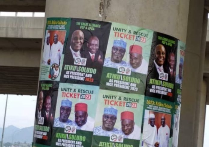 2023: Atiku/Soludo Campaign Posters Sign Of Desperation-- APGA Supporters –  The Whistler Nigeria