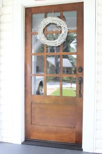 Our New Front Door: Dark, Stained Wood with White ...