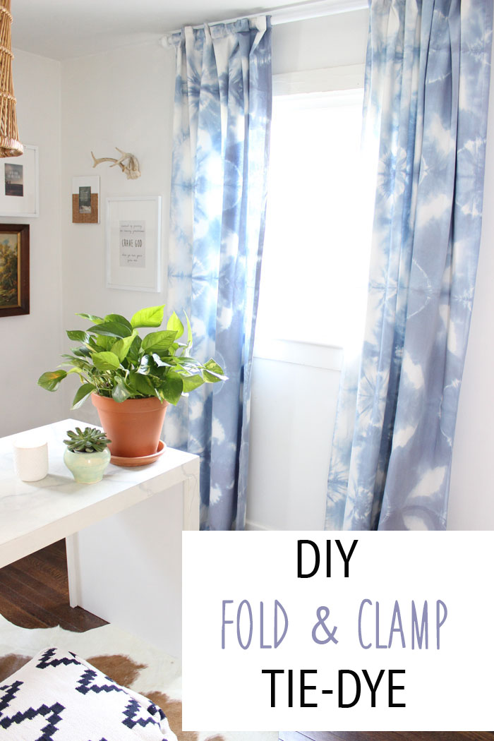 DIY Fold & Clamp Tie Dye Thewhitebuffalostylingco Com