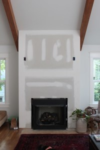 DIY Faux Fireplace Surround - thewhitebuffalostylingco.com