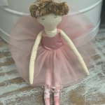 Ballerina Doll with Baby Rattle