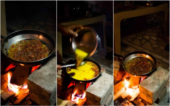 Indian Cooking on Open Fire Stove