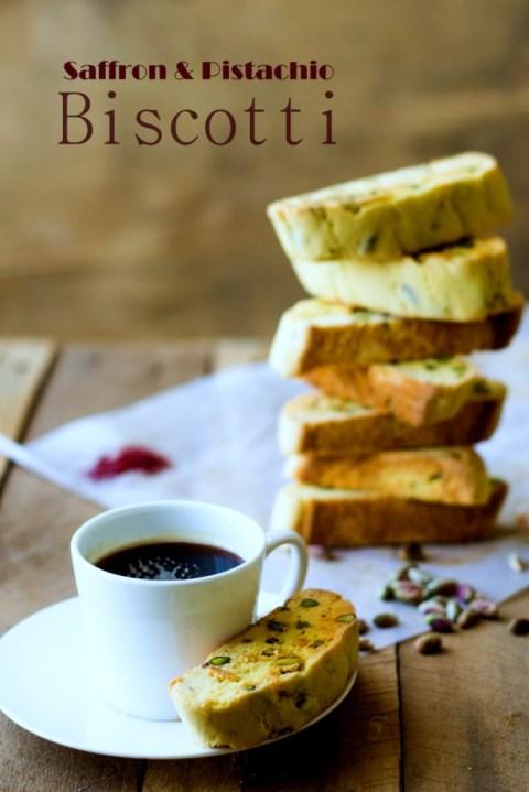 Saffron & Pistachio Biscotti