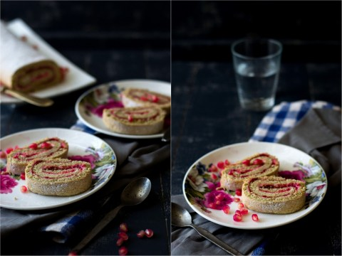 Pomegranate & Strawberry Roulade 1