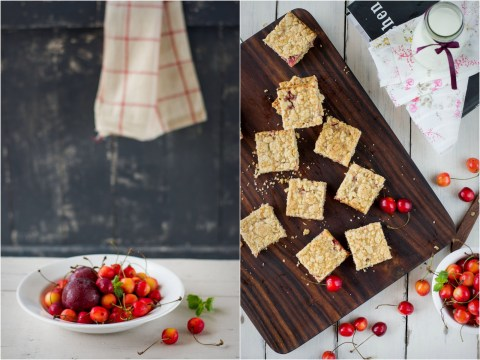 Cherry & Plum Crumb Bars 4
