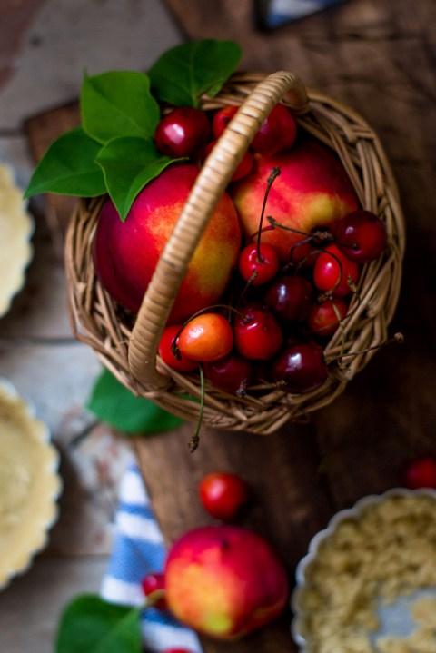 Nectarine & Cherry Almond Tarts 5