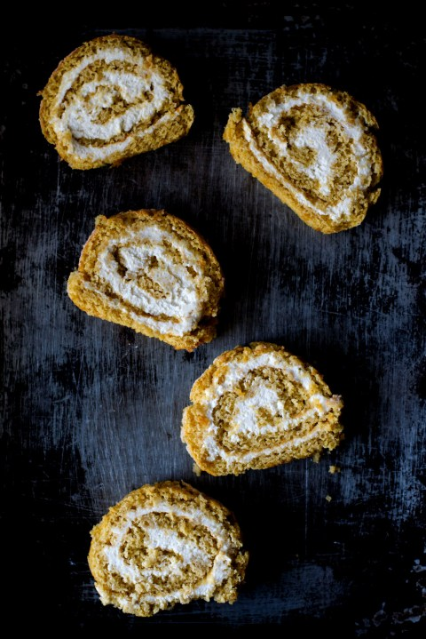 Pumpkin Maple Mascarpone Roulade