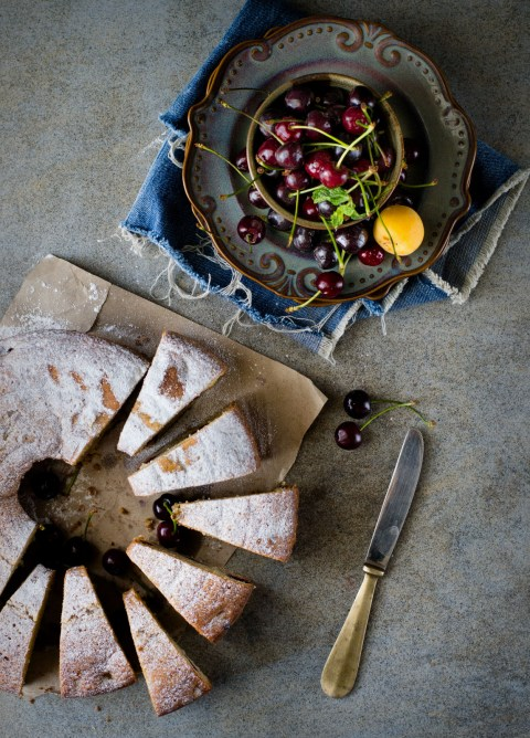 Olive Oil Wholewheat Stone Fruit Cake