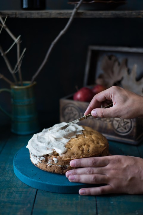 Apple & Olive Oil Cake With Maple Icing