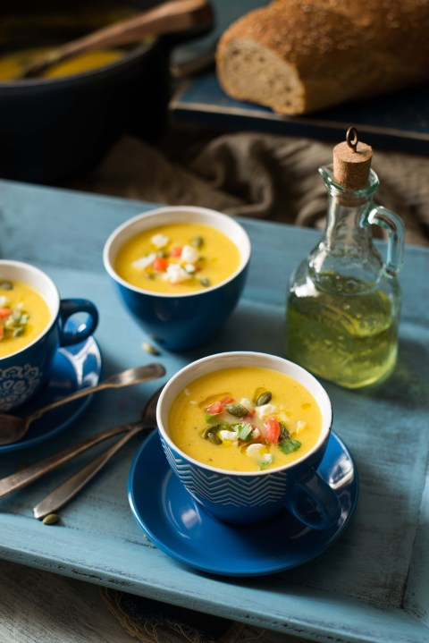 roasted pumpkin & apple soup