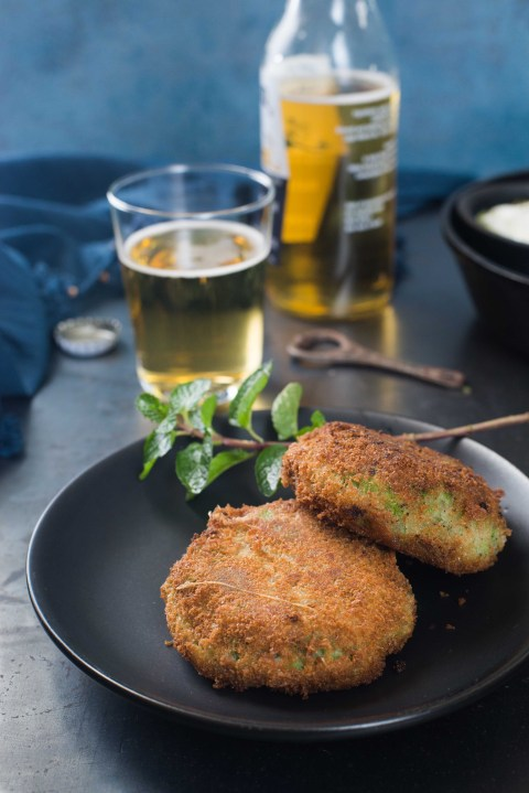 green pea & mint croquettes